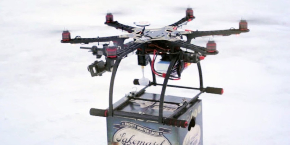 drone delivery beer